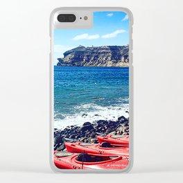 Greek Kayaks Clear iPhone Case