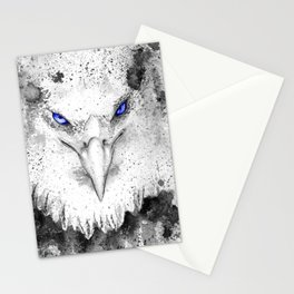 Black and white : eagle Stationery Cards