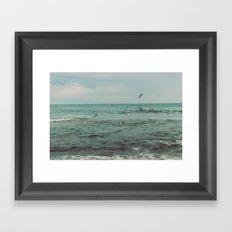 Flock of seabirds Framed Art Print