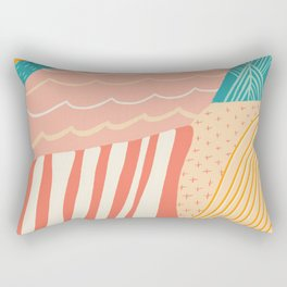 beach quilt Rectangular Pillow