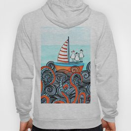 Seagull and little boat Hoody