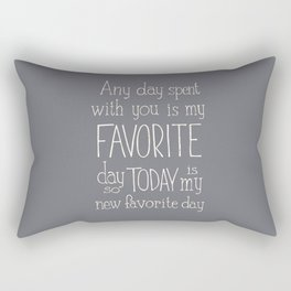 """Winnie the Pooh quote  """"FAVORITE"""" Rectangular Pillow"""