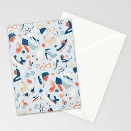 Shoe Craze Pale Blue Stationery Cards