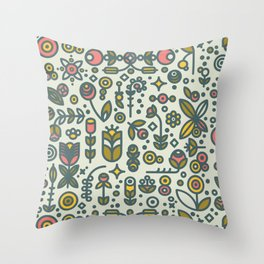 36dot Flower Garden Throw Pillow