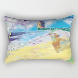 Côte Sauvage at the Atlantic in France. Rectangular Pillow