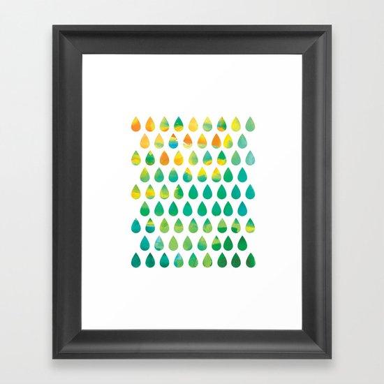 Monsoon Rain Framed Art Print