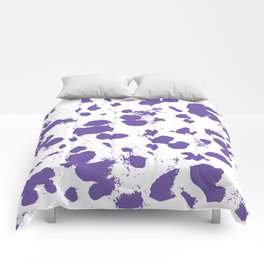 Purple splash Comforters