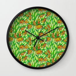 Ice Plants Wall Clock