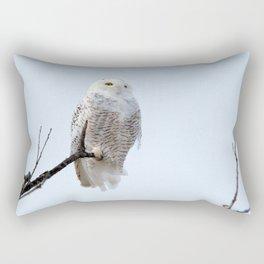Lofty Vision (Snowy Owl) Rectangular Pillow