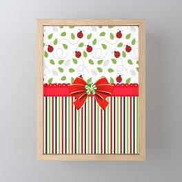 Flourishing Ladybugs Colorful Strips Framed Mini Art Print