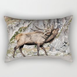 Wapiti Bugling (Bull Elk) Rectangular Pillow