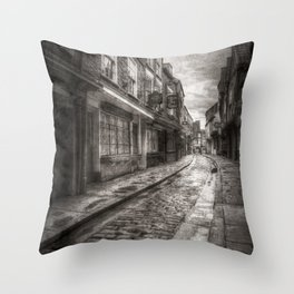 Medieval Shambles York Vintage Throw Pillow