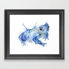 Big Blue Toad Framed Art Print