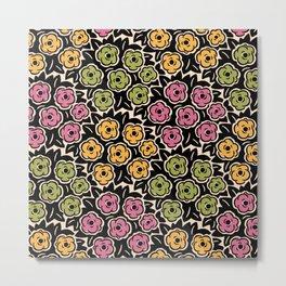 Mid Century Modern Flower Bouquet Pattern 950 Metal Print