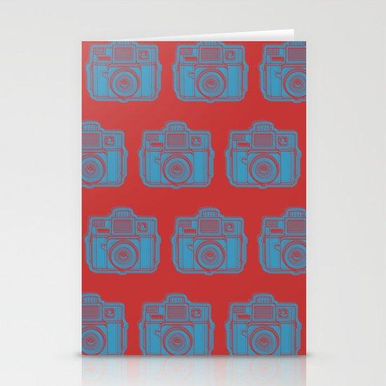 I Still Shoot Film Holga Logo - Red & Blue Stationery Cards