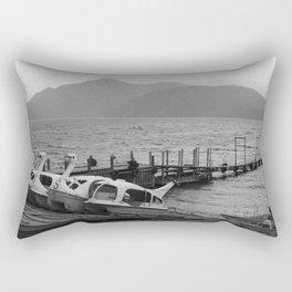 Nikko mountain lake 001 Rectangular Pillow