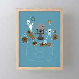 Crazy MonkeyTeddyBears Framed Mini Art Print