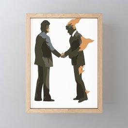 Pink Wish You Were Floyd Here Framed Mini Art Print