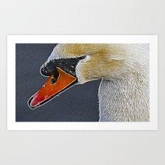 Fractalius Swan Art Print