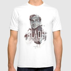Blade Runner Mens Fitted Tee X-LARGE White