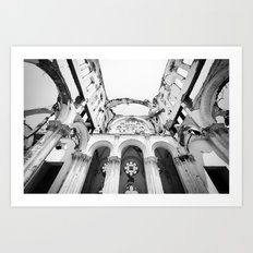 Inside the Cathedral Ruins Art Print