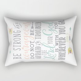 Joshua 1:9 Christian Bible Verse Typography Design Rectangular Pillow