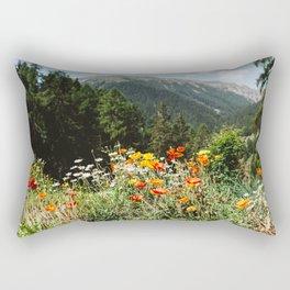 Mountain garden Rectangular Pillow