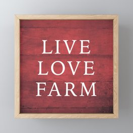 LIVE LOVE FARM Framed Mini Art Print