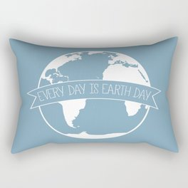 Every Day is Earth Day - white Rectangular Pillow