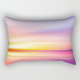 Abstract Sunset VII Rectangular Pillow