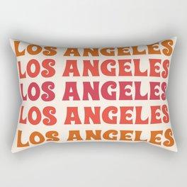 Los Angeles - retro vibes throwback minimal typography 70s colors 1970's LA Rectangular Pillow