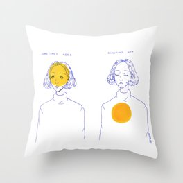 Sometimes Here, Sometimes Not Throw Pillow