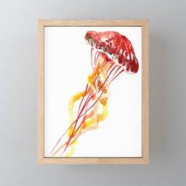 Jellyfish, Red, orange, Yellow design Framed Mini Art Print