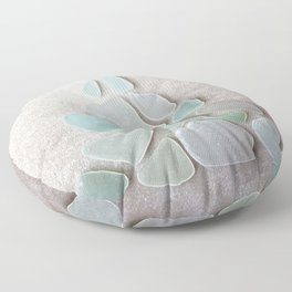 Sea Foam Sea Glass Christmas Tree #Christmas #seaglass Floor Pillow