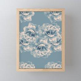 Blush Blue Peony Flower Bouquet #1 #floral #decor #art #society6 Framed Mini Art Print