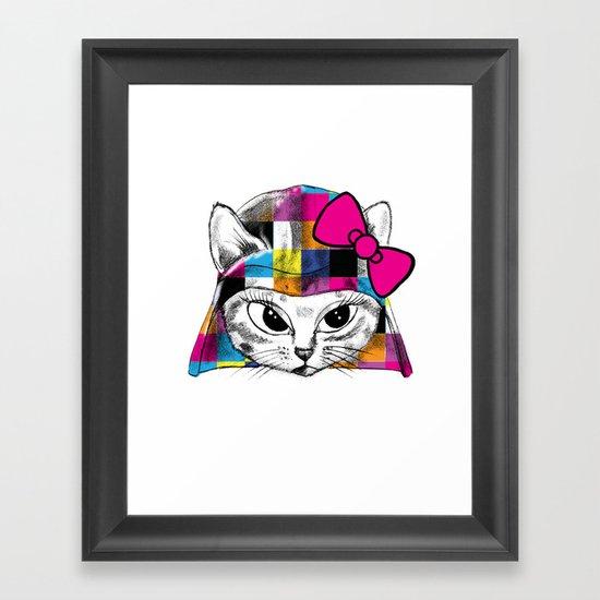 Darth Kitty Framed Art Print