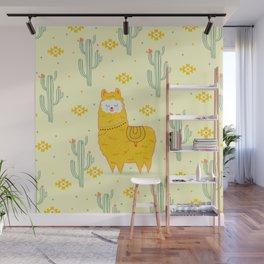 Alpaca summer Wall Mural