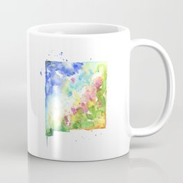 New Mexico Watercolor Map - State Map Art - Watercolor Maps Coffee Mug