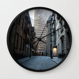 Financial District NYC Wall Clock