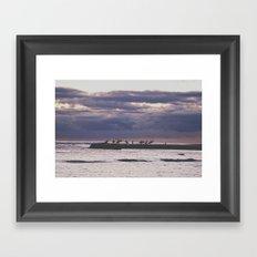 Surfers- Oahu-Honolulu Framed Art Print
