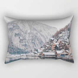 VILLAGE - COAST - MOUNTAINS - SNOW - PHOTOGRAPHY Rectangular Pillow