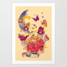 Papillon Ache Art Print