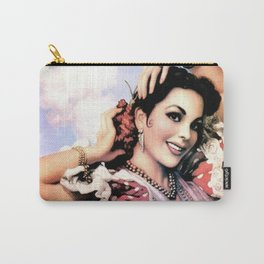 Jesus Helguera Painting of a Delightful Mexican Calendar Girl Carry-All Pouch