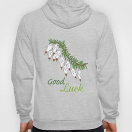 heather white flower Hoody