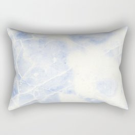 Blue and White Marble Waves Rectangular Pillow