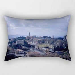 Vintage Color Photo * Perugia * Umbria * Italy * Kodachrome * 1950's Rectangular Pillow