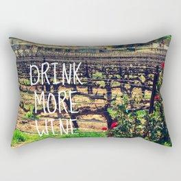 DRINK MORE WINE  Rectangular Pillow