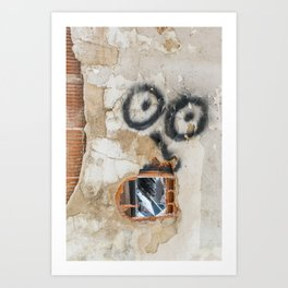 Wall-eyed Surprise Art Print