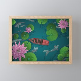 A moment of calm Framed Mini Art Print