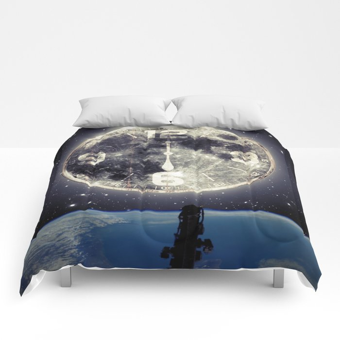 Midnight at Space Comforters